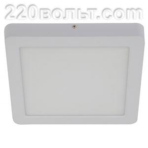 Светильник LED 9-18-4K квадратный накладной 18W 220V 4000K, белый ЭРА