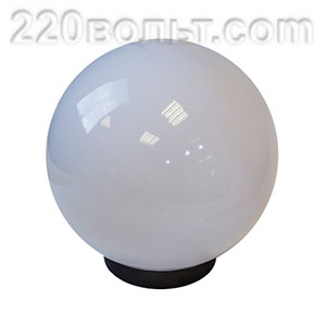 Светильник садово-парковый ШАР белый призма D=200 mm ЭРА