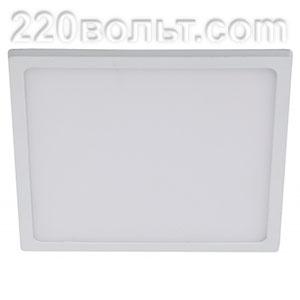 Светильник LED 6-18-4K квадратный накладной 18W 4000K ЭРА