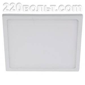 Светильник LED 6- 6-4K квадратный накладной 6W 4000K ЭРА