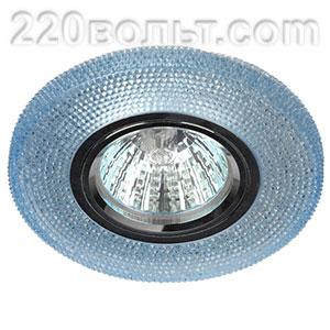 Светильник точечный декор cо светодиодной подсветкой голубой ЭРА