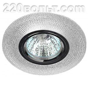 Светильник точечный DK LD1 WH c LED подсветкой прозрачный ЭРА