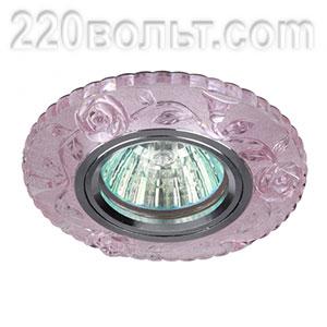 Светильник точечный декор со светодиодной подсветкой розовый-прозрачный ЭРА