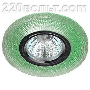 Светильник точечный декор cо светодиодной подсветкой зеленый ЭРА