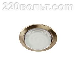 Светильник точечный под лампу Gx53 бронза ЭРА