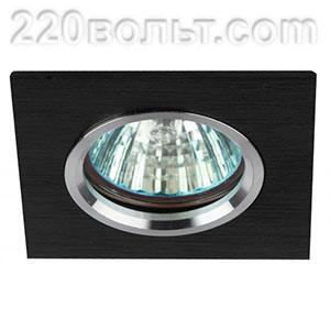 Светильник точечный литой MR16 серебро/черный ЭРА