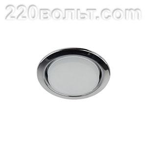 Светильник точечный под лампу Gx53 хром ЭРА