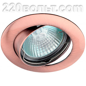 Светильник точечный литой простой поворотный 50W медь ЭРА