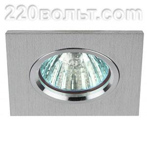Светильник точечный литой MR16 серебро ЭРА