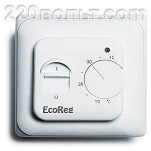 Термостат для теплых полов электромеханический с датчиком пола