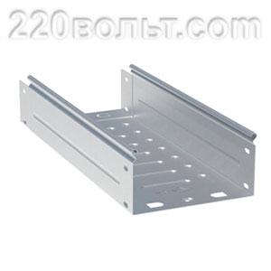 Лоток неперф. металлический 80х200х3000-0.8мм EKF