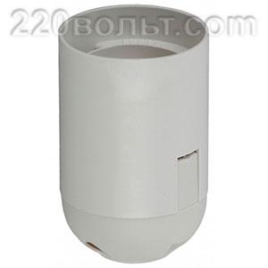 Патрон подвесной Е27 пластик белый ЭРА