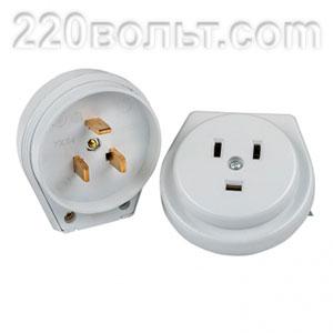 Разъем РШ-ВШ 32А 250В 2P+PE (ОУ) пластиковый белый EKF Simple