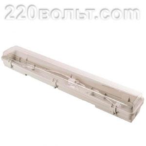 Светильник пылевлагозащищенный IP65 Slim 2х600мм (ЕС)