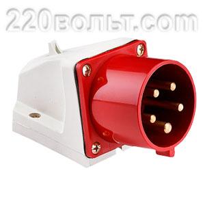 Вилка стационарная 515 3Р+РЕ+N 16А 380В IP44 EKF PROxima