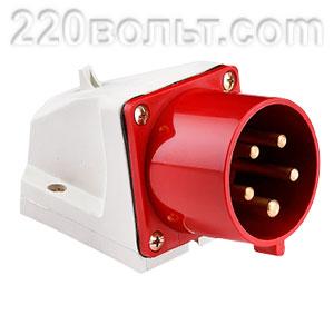 Вилка стационарная 525 3Р+РЕ+N 32А 380В IP44 EKF PROxima
