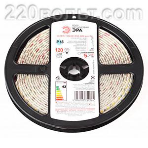 Лента светодиодная ЭРА LS2835-60LED-IP65-W-eco