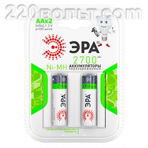 Аккумуляторная батарея HR6-2BL 2700mAh АА ЭРА