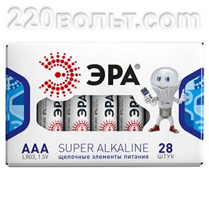 Элемент питания ЭРА LR03-28 box ААА (ALKALINE)