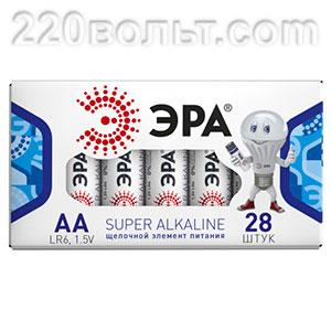 Элемент питания ЭРА LR6-28 box АА (ALKALINE)