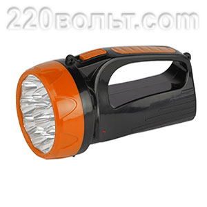 Фонарь ручной TSP10 аккум. 15 х LED. 2 режима ТРОФИ