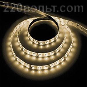Лента LED LS604 IP-65 белый теплый на белом Feron