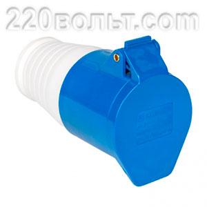 Розетка переносная 223 2Р+РЕ 32А 220В IP44 EKF PROxima