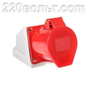 Розетка стационарная наружная 115 3Р+РЕ+N 16А 380В IP44 EKF PROxima