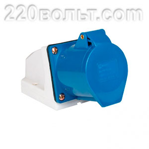 Розетка стационарная наружная 123 2Р+РЕ 32А 220В IP44 EKF PROxima