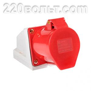 Розетка стационарная наружная 124 3Р+РЕ 32А 380В IP44 EKF PROxima