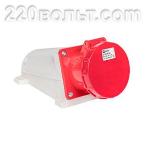 Розетка стационарная наружная 135 3Р+РЕ+N 63А 380В IP67 EKF