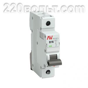 Выключатель автоматический AV-6 1P 16A (B) 6kA EKF AVERES
