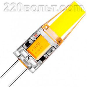 Лампа светодиодная LED G4 3.5w 12V AC/DC 4500K Biom