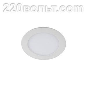 Светильник LED 1-18 -4К/1 круглый врезной 18W 220V 4000K ЭРА