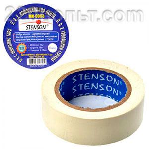 Изолента ПВХ Stenson белая