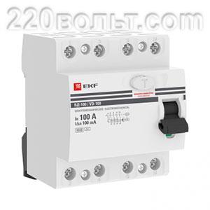 УЗО ВД-100 4P100А (электромеханическое) EKF PROxima