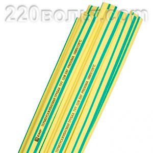 Термоусаживаемая трубка ТУТ желто-зелен EKF PROxima
