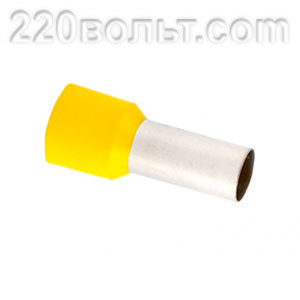 Наконечник штыревой втулочный изолированный НШвИ 25.0-16 EKF