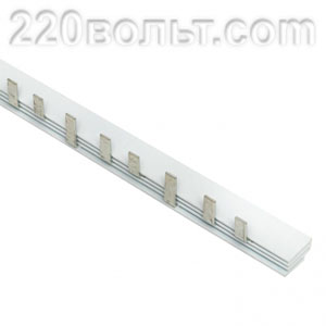 Шина соединительная типа PIN для 3-ф нагр.100А (ВА 47-100) EKF