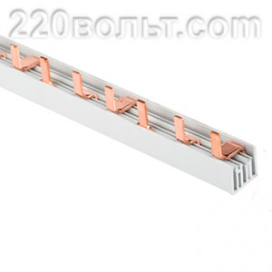 Шина соединительная типа PIN для 3-ф нагрузка 63А EKF PROxima