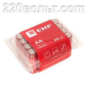 Батарейка алкалиновая типа АА(LR6) уп/24шт EKF