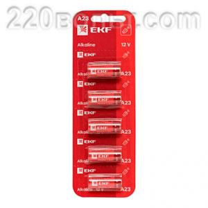 Батарейка алкалиновая типа А23 для сигнализаций уп/5шт EKF