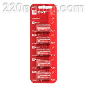 Батарейка алкалиновая типа А27 для сигнализаций уп/5шт EKF