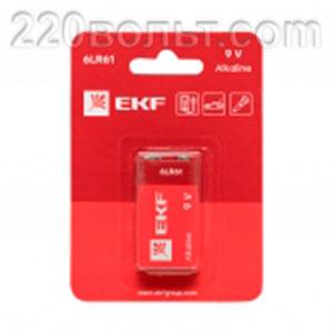 Батарейка алкалиновая типа 9V(6LR61) EKF