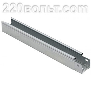 Лоток неперф. металлический 50х 50х3000-0.55мм EKF