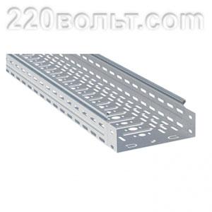 Лоток перф. металлический 80х100х3000 (24м) EKF