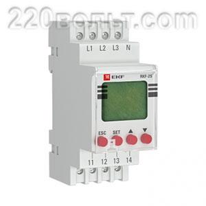 Реле контроля фаз с LCD дисплеем (с нейтралью) EKF PROxima