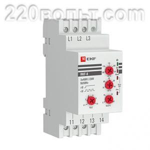 Реле контроля фаз многофункциональное RKF-8 EKF PROxima 380В