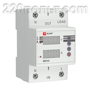 Реле напряжения и тока с дисплеем MRVA 63A 220В EKF PROxima