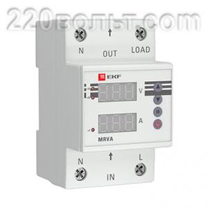 Реле напряжения и тока с дисплеем MRVA 40A EKF PROxima